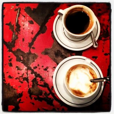 Cafe y capaccino