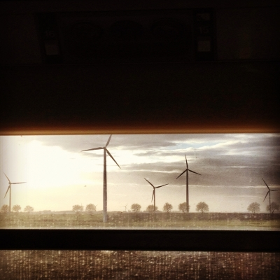 turbines from train