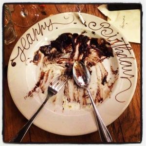 birthday cake remains