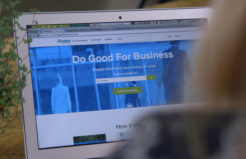 do good for business homepage with user