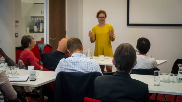 Hermione talking at Oomph seminar