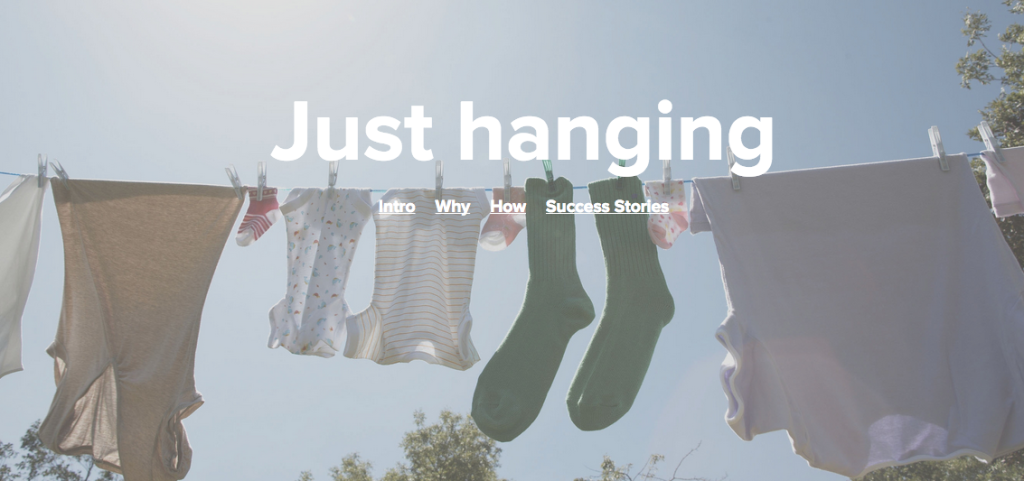 New DoAction page design for Just Hanging
