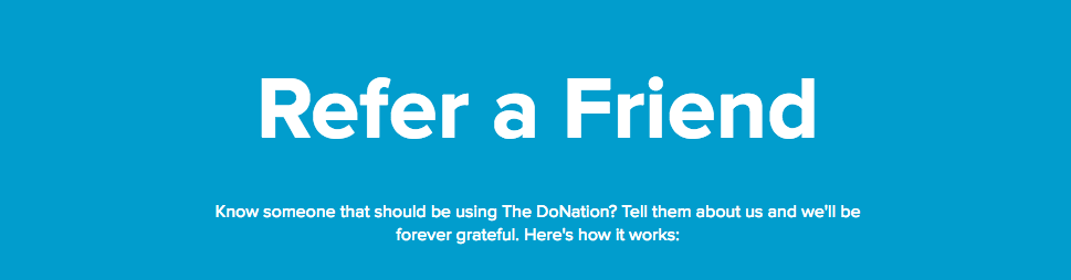 Refer an organisation to The DoNation