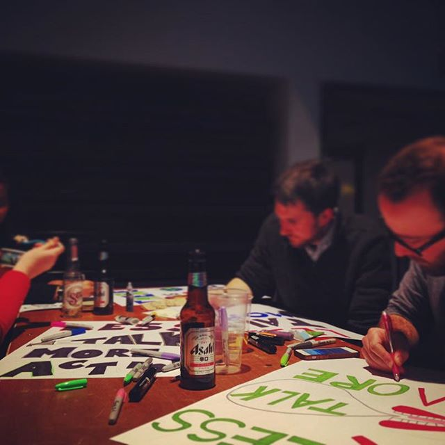 Getting crafty with @benandjerrys and @avaazorg , making placards for the #climatemarch this Sunday. Who's joining us?