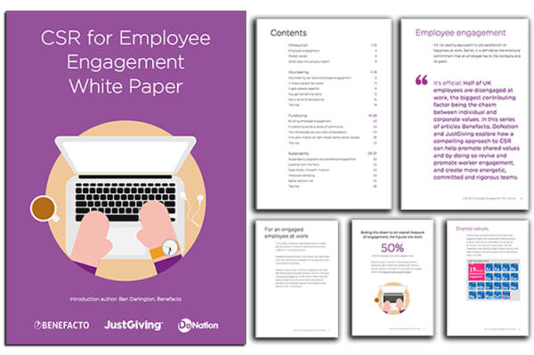 CSR Employee Engagement whitepaper - sustainability, fundraising, and volunteering.