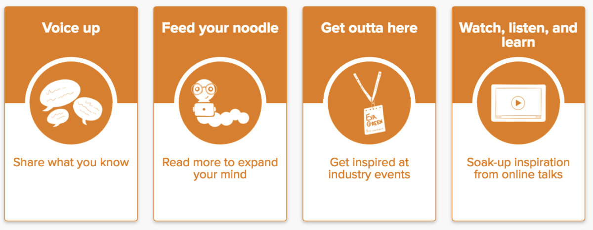 New Do Actions: Voice up, Feed your noodle, Get outta here, and Watch, listen, and learn.