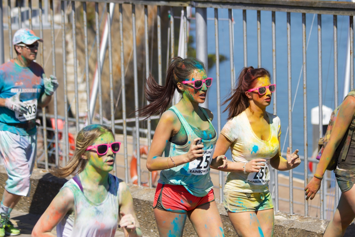Rainbow run paint fun